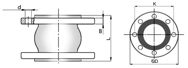схема резинового компенсатора NBR