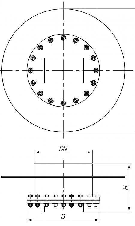 Люк-лаз круглый, без поворотного механизма