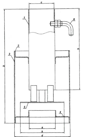 Схема искрогасителя ИГС-80