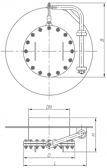 Люк-лаз круглый, с поворотным механизмом