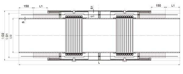 Схема сильфонного компенсатора 2СКУ.ППУ.1