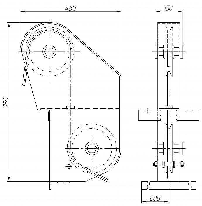 Блок роликовый БР-1