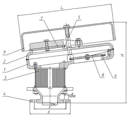 Чертеж клапана КДМ-50