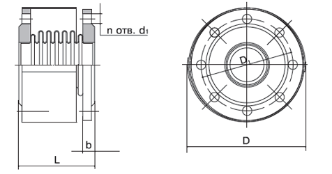 Компенсатор К111-2,5-Т12 Универсальный фланцевый