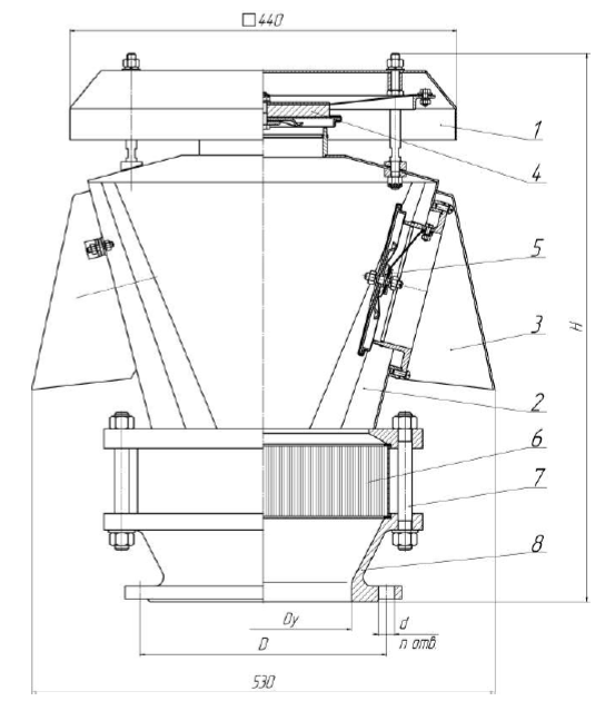 Клапан КДМа-150