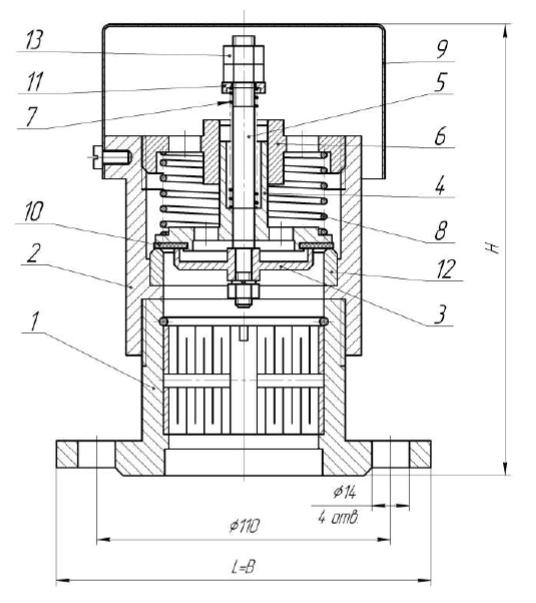 Клапан КДМа-50Ф