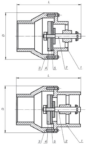 Конструкция клапан приемный КП