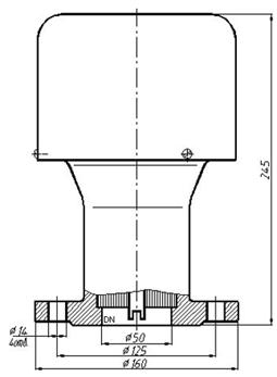 Конструкция клапана КДМ-50М