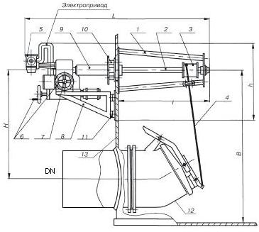Механизм управления хлопушкой  МУ-2