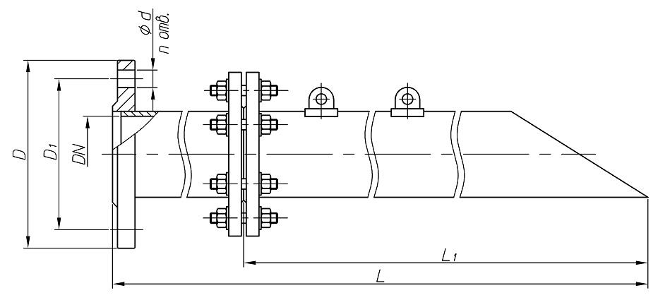 Труба подъемная чертеж